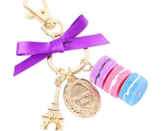 Keyring/plannercharms Macarons purple