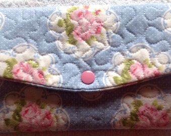 Ladies trifold wallet, wallet, ladies wallet, fabric wallet, quilted wallet,