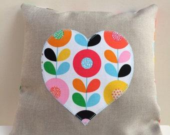 Mini Colour-pop  Scandi Flower Cushion