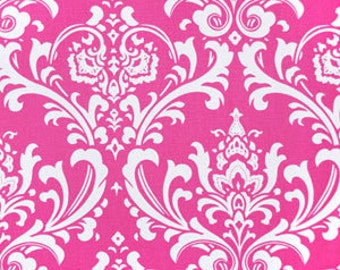 Last Half Yard of OOP Candy Pink Osborne Ozborne Damask Home Decor Fabric by Premier Prints