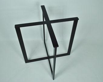Carbon Steel-4 LEG Metal Table base FREE SHIPPING