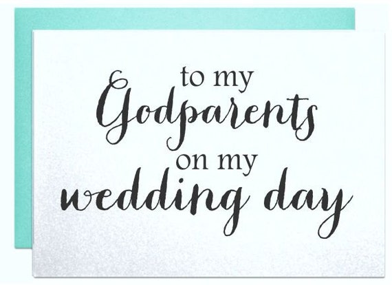 Wedding Card To My Godparents On My Wedding Day Cards Thank