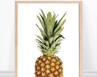 Pineapple Art, Summer Art Print, Pineapple Print, Kitchen Art, Modern Kitchen, Fruit Print, Pineapple Decor