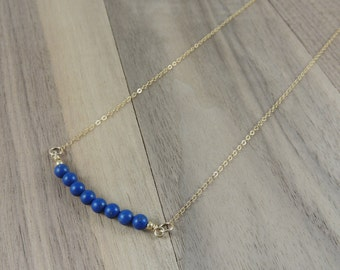 Lapis gold filled necklace
