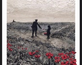 Thank You Tommy Atkins! from the War Poppy Collection 1914-1918 by Jacqueline Hurley Fine Art Print  No.7 in remembrance of Our Heroes