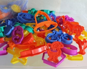 SALE These Are Toddler/Baby Toys For Bath Time or For Playing w Play Doh w Mom or Dad,  100 Pieces Which Are Numbers, Letters Animals Plus