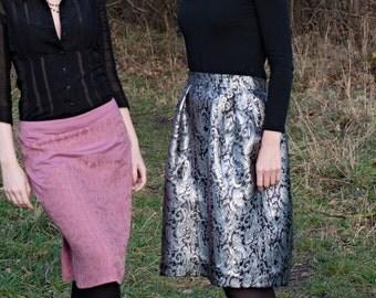 Brocade voluminous skirt