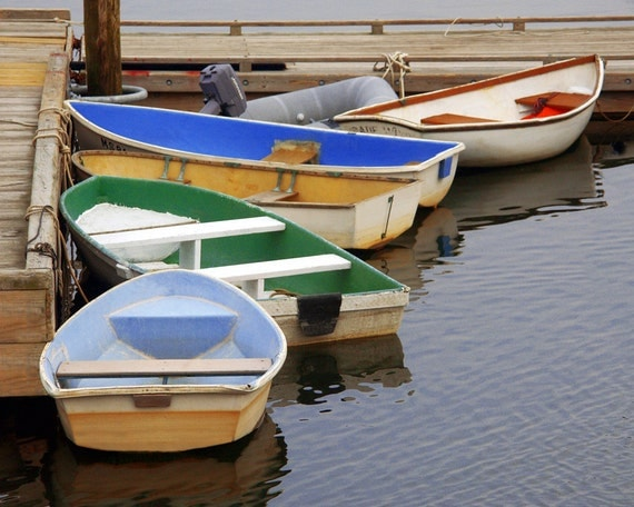 Rowboats At Dock Fine Art Photography Wall Photo Print Cape
