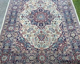 Semi Antique Persian Kashan Rug 5x7 high KPSI