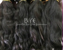 Virgin Hair Extensions/Virgin Hair Bundles/Hair Bundles/Four Bundles Deals- Natural Wavy