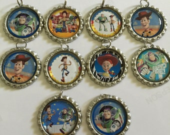 Toy Story bottlecap necklaces- set of 10