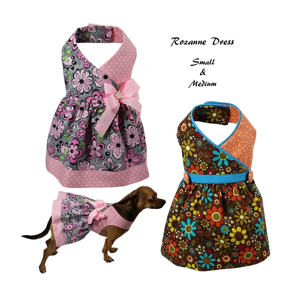 Roxanne dog dress dog dress sewing pattern dog clothes Dog clothes design your own