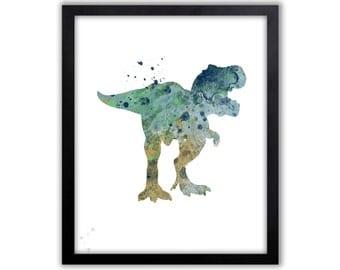 T-rex, T-rex Wall Art, Boys Room Art, Wall Art For Boys, Boys Gift, Dinosaur , Limited Edition Art Print - DIN5001P