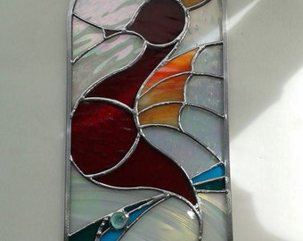 Seahorse Stained Glass Window Panel