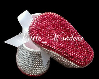 Swarovski Rinestone Baby Girl  Red Bottom Shoes