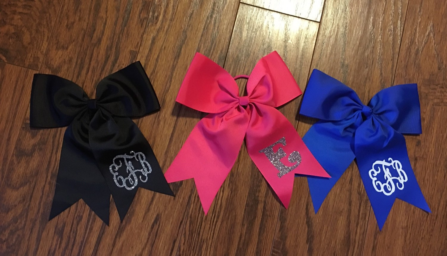 Vinyl Monogram Hair Bows