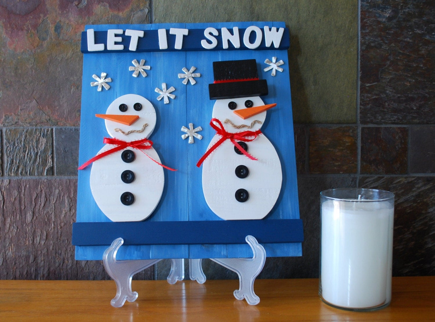 Rustic snowman wall plaque pallet wood snowman by landwcreations - How to make a snowman out of wood planks ...