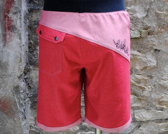 """Red jeans"" - men shorts"