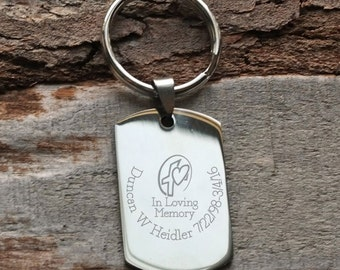 In Loving Memory Personalized Engraved Key Chain
