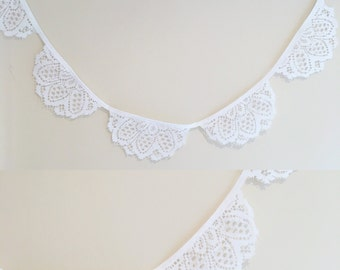 Vintage lace bunting wedding engagement backdrop decor