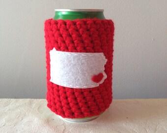 Philadelphia Baseball | Philadelphia, Pennsylvania Crochet Beer Cozy, Bottle Cozy, Reusable Coffee Cozy by Maroozi