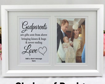 Personalised Godparent Typography Frame