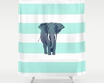 Elephant Shower Curtain Etsy