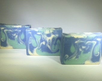Fresh Blueberry Soap, Cold Process Soap, Vegan Soap