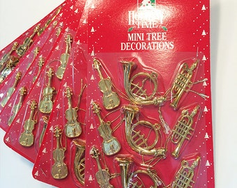 Set of 9 Mini Tree Decorations