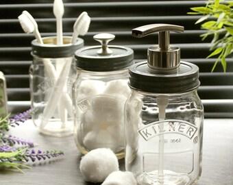 Kilner preserve vintage pot salle de bain accessoire mis en - Accessoire salle de bain retro ...