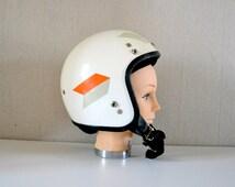 Vintage Motorcycle Helmet AGV IMOLA / open face helmet made in Italy.