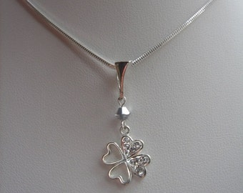 925 Silver luck chain with twinkle - leaf clover!