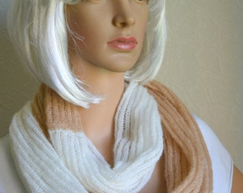 Handmade light shawl - snood scarf