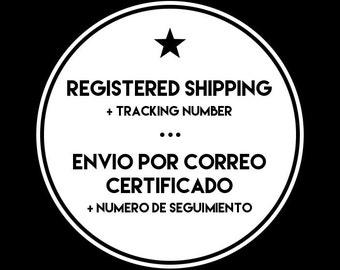 REGISTERED SHIPPING with Tracking Number