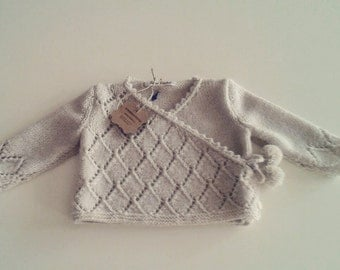 Double breasted cardigan, Baby cardigan, baby coming home outfit, knitting
