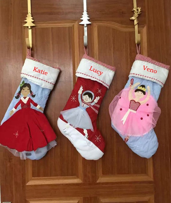 Personalized BLUE Girl christmas stockings holidays Decoration