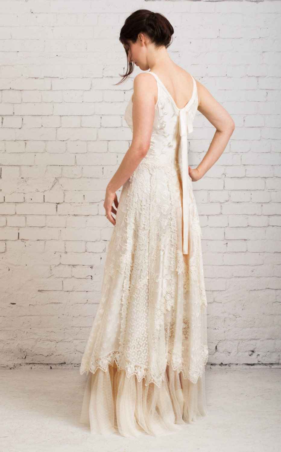 boho wedding dress casual wedding dress simple wedding