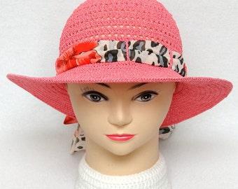 Womens Sun Hat Pink hat Crochet Hat Sun Hat Wide Brim Hat Womens Hats Womens Gift Ideas Brim Hat Beach Accessories anniversary gift for wife
