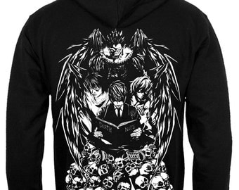 Death Note zoodie Light Yagami sweatshirt Shinigami Ryuk Light and Death