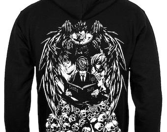 Death Note zoodie Light Yagami sweatshirt Shinigami Ryuk Light and Death