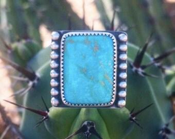 Hachita Turquoise Rectangle Ring