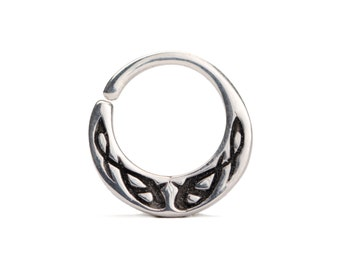 Celtic Jewelry Septum Ring in Sterling Silver Nose Ring Body Jewelry Boho Indian Style 14g 16g - SE042R SSO