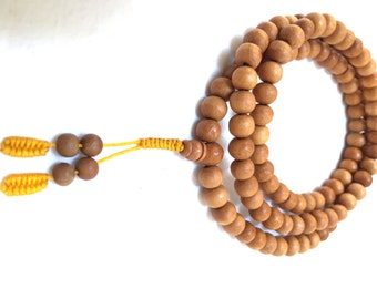 108 Bead Handcrafted Sandalwood Mala