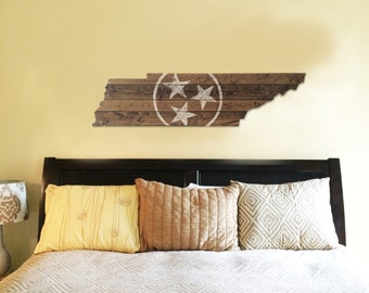 Tennessee State Flag Wooden Cut Out