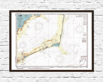 Cape Hatteras Cape Hatteras Print Art Cape Hatteras Nc Art Map Art