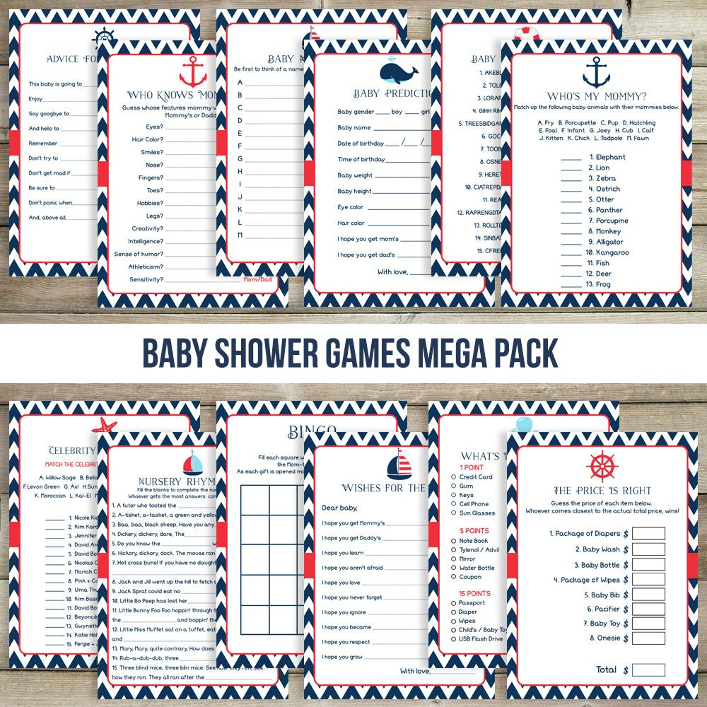 nautical baby shower game navy baby shower game by drawmeaparty