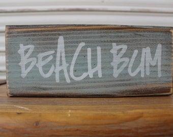 Beach Wood Blocks, Beach Sign, Surfer Wood Sign, Beach Bum Wood Sign, Rustic Blocks, Surfer Girl Sign, Beach Decor, Summer Sign,Shelf Sitter