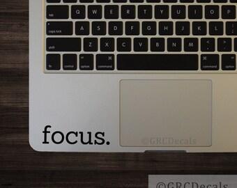 Focus - Laptop Vinyl Decal Mac Apple Sticker Macbook Programmer Computer Code Design