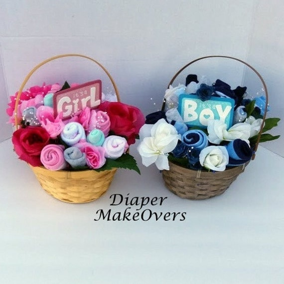 New Baby Floral Gift Ideas : Flower gift baskets baby shower basket new