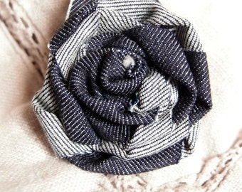 Flower brooch fabric jeans-rose shaped brooch-decorative brooch-handmade brooch-fabric brooch for coat-cheap Gifts